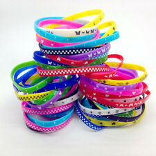 50pcs Silicone Wristband Rubber elastic bracelet Skull Butterfly etc Mixed Lot