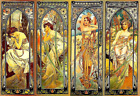 Times of the Day, by Alphonse Mucha 2