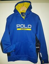 GENUINE Polo Ralph Lauren Mens Blue Great Jumper Top Hoody Size L  SAVE £50 W0W
