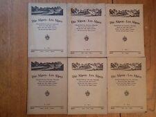 Die Alpen Les Alpes; Revue du Club Alpin Suisse *6 issues Jan-June 1925*