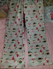 NWT Flirtitude Juniors Fleece Pajama Sleep Pants Christmas Polar Bear Size Large