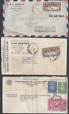 Haiti 1941 49 Two Wartime Covers One Censored Porte Au Prince To Us +1949 Bank