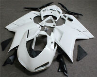 Unpainted White ABS Body Work Fairing Kit For Ducati 1098 1198 848 07 2011 2008