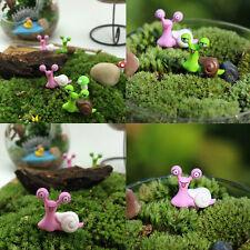 Garden Ornament Miniature Snail Figurine Resin Craft Fairy Dollhouse Decor MO