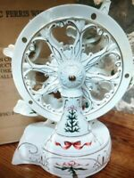 Avon Porcelain Holiday Classic Ferris Wheel Wind Up Musical Christmas 2001