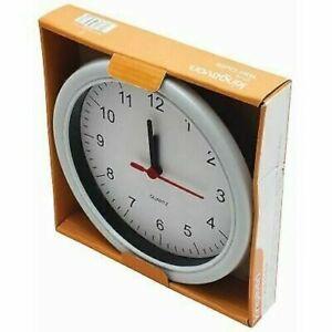 "KINGAVON 9"" ROUND TRADITIONAL INDOORS QUARTZ WHITE WALL CLOCK"