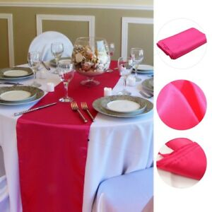 EASTER SATIN TABLE RUNNER 275cm LONG x 30cm WIDE 30+ COLOURS WEDDING PARTY UK