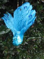 Artificiale metallico Turchese piuma pavone - 18 cm