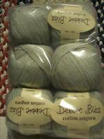 Lot of 6 Balls ~ Debbie Bliss Cotton Angora Yarn ~ # 15524 ~ Same Dye Lot