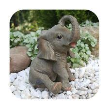 Niedliche Dekofigur Elefant Glückselefant Afrika Deko afrikanische Skulptur
