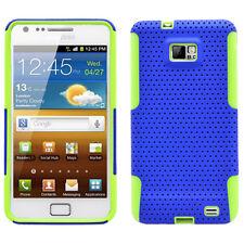 SAMSUNG i9100 ATTAIN GALAXY S2 SPORTY HYBRID 2 TONE CASE BLUE/GREEN