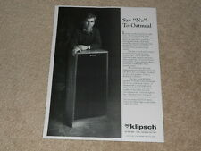 Klipsch Chorus Speaker Ad, 1985, 1 pg, Article, Beautiful!