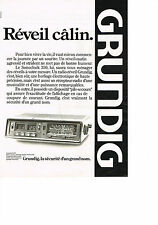 PUBLICITE ADVERTISING   1979   GRUNDIG   radio réveil