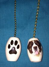 """One Saint Bernard Dog Fan Pull With A Paw Print On The Back 1"""""""