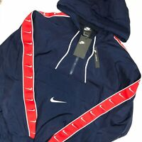 New Nike Sportswear Big Swoosh Pullover Jacket NAVY RED CD0419-480 Men's Sz XL