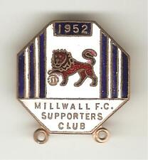 More details for 1952 millwall supporters club brooch-pin badge #