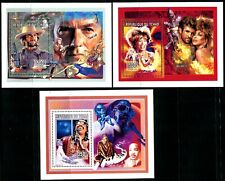 Republic of Chad #661 #669 #670 Souvenir Sheets Entertainers 1996 Postage MNH