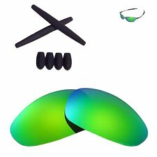 WL Emerald Polarized lenses And Black w Ear socks T-shocks for Oakley Juliet