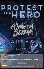 Protest The Hero / A Wilhelm Scream/Auras 2017 Phoenix Concert Tour Poster-Metal