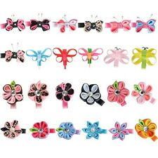 "Small Hair Bows for Girls 24 Pcs 2.5"" Butterfly Flower Baby Hair Clips"