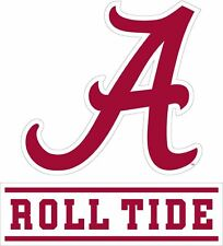 "Alabama Crimson Tide ""Roll Tide"" Premium Die-Cut Vinyl Decal for Car Phone Truck"
