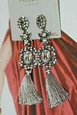#119 Freedom by Topshop Silver Fashion Tassel Earrings