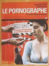 AFFICHE - LE PORNOGRAPHE de Bertrand Bonello - Jean-Pierre LEAUD, Jérémy RENIER