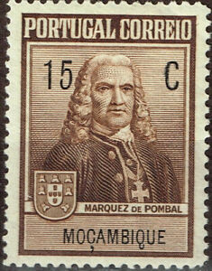 Portuguase Mosambice Famous Colonial Empire builder Marquis of Pombal stamp 1938