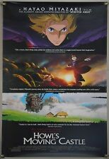 HOWL'S MOVING CASTLE DS ROLLED ORIG 1SH MOVIE POSTER HAYAO MIYAZAKI GHIBLI 2004