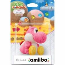 Nintendo New Yarn Yoshi Wooly World Pink Amiibo Wii U 3DS US Version