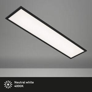 LED Panel ultraflach schwarz 22W 1.000x250x60mm (LxBxH) Briloner Leuchten