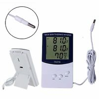 LCD Indoor/Outdoor Digital Thermometer Hygrometer Temperature Humidity Display