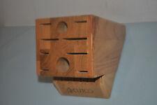 Cutco Homemaker + 8 Set Block (18-Slot) Finish Oak Block Made In Usa