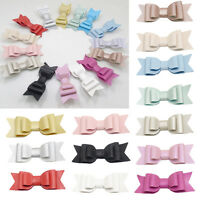 Sweet Baby Girls Toddler Kids Leather Bow Hairpin Barrette Hair Clip Accessories