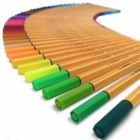 Stabilo Point 88 - 0.4mm Metal Nib Fineliner - Box of 10 Pens - 47 Colours