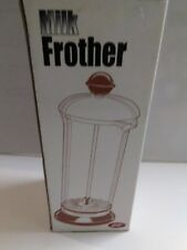 Elki Milk Frother Plunger Carafe Glass black Latte Capuchino New