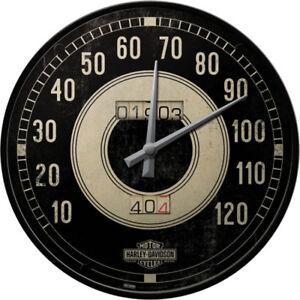 Harley-Davidson Horloge Logo Atelier & Garage Déco Dealer Shop Compte-Tours 012