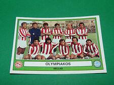 PANINI EURO FOOTBALL 78 N°110 OLYMPIAKOS PIREE GRECE HELLAS 1977-1978