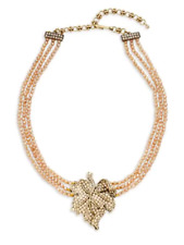 "Heidi Daus ""Lavish Leaf"" Swarovski Crystal Drop Pendant Necklace NWT STUNNING!!!"