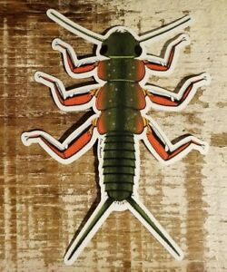 BROOK TROUT STONEFLY Sticker decal designed by Evan Makuvek fly fishing flies