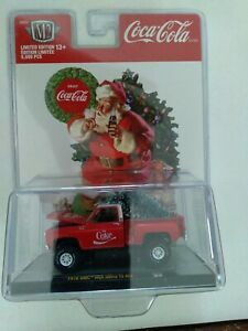 M2 COCA COLA 1976 GMC SIERRA 15 4X4 STEPSIDE PICKUP TRUCK RED CHRISTMAS SC03