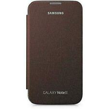 Premium Flip Case Cover for Samsung Galaxy Note 2 N7100 - Amber Brown