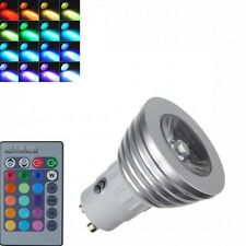 4X 3W Ceiling Dimmable GU10 RGB LED Spotlight Bulb Color Changing With Remote