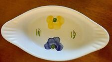 New listing Maxam Oven to table Casserole dish Great floral design Hand painted In Portugal