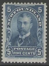 NEWFOUNDLAND SG90 1899 5c BLUE MTD MINT