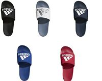 Adidas Men's Adilette Cloudfoam Plus Logo Comfort Slides Sandals Flip Flops