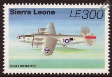 Consolidated B-24 LIBERATOR WWII Aircraft Stamp (1995 Sierra Leone SG2342)