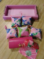 Lilly Pulitzer Eyeglass Hard Case, Cloth, Tray and 5 Hanger Sachets!
