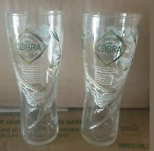 2 X COBRA STORY HALF PINT GLASES LIMITED EDITION BRAND NEW CE GIFT BAR MAN CAVE