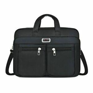 Mens Black Backpack Nylon Shoulder Crossbody Briefcase Office Bag